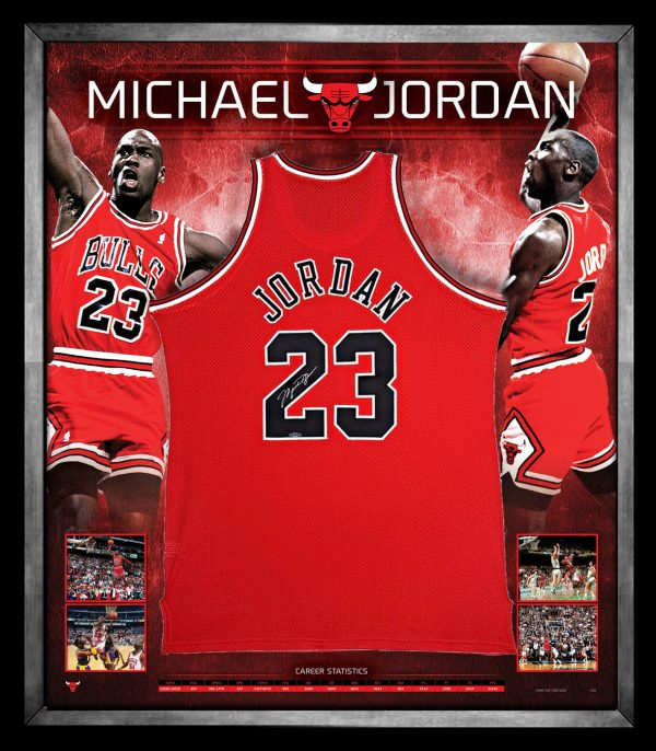 check out a3243 ebdfe Michael Jordan Jersey Signed & Framed
